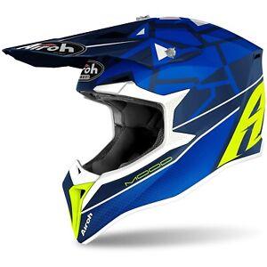 Casco Helmet da Motocross Enduro Motard Airoh WRAAP MOOD BLUE 2021Tg M (57-58)