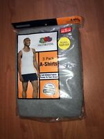 Fruit Of The Loom Mens 3 Pack Color A Shirt Tank Top S M XL 2XL 3XL 100% Cotton!