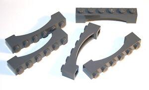 5x LEGO® Bogen-Stein 1x6 Bogen erhöht neue Form 92950 NEU Dunkelgrau Dark Bluish