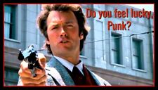 """5"""" Dirty Harry """"Do You Feel Lucky Punk?"""" vinyl sticker. 44 Magnum decal for safe"""
