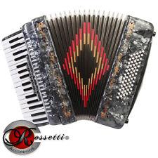 Rossetti 3460 60 Bass 34 Keys 5 Switch Piano Accordion - GREY + Case & Straps