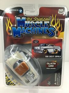 Muscle Machines  * 1958 Chevy Impala ** RARE* New On Card* 1:64