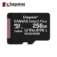 Nouveau Kingston 256Go MicroSD SDXC C10 Cartes Mémoire TF 100MB/s avec Adapteur