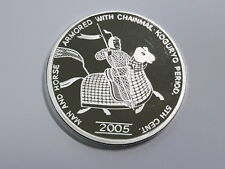 Korea 2005, Man & Horse Armored  with Chain mail 20 Won, 40mm, 1oz Silver Proof