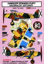 KORA Models Decals 1/72 HAWKER FURY Spanish Nationalist Air Force