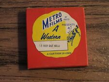 Vintage METRO FILMS 8mm Film A WESTERN T-4 Way Out West Cartoon ASCO