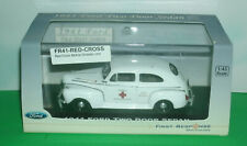 1/43 Scale 1941 Ford Two-Door Sedan Red Cross Car Diecast Model - First Response