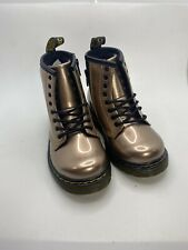 Dr Martens Toddlers 1460 Rose Gold Boots Size 9uk8 #25207716 (aa58)
