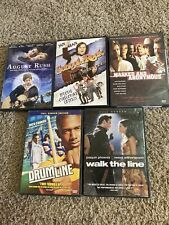 New Listing5 Music Movies Dvd Lot Walk The Line Drumline August Rush School Of Rock Masked