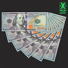 17 Pieces $100 PROP FAKE American Dollar Currency Full Print with Sample Pack
