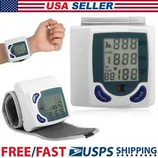 New 60 Memory Storage LCD Digital Wrist Cuff Blood Pressure Monitor Heart Beat H