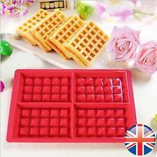 * vendedor Reino Unido * Silicona gofres Molde Muffin sus panes y piezas Para Hornear Pastel Molde Bandeja Waffle