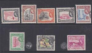 British Guiana 1963-65 Used Definitives part set $2 Birds Gold Mining Waterfall