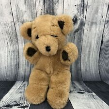 Vintage 70s Gund Stitch Brown Teddy Bear Stuffed Animal Plush 8""