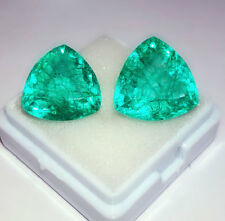 Loose Gemstone 6.00 to 8.00 cts 2 Pieces Colombian Emeralds Certified Best Offer