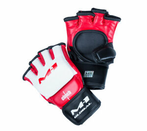 Gloves MMA Clinch M1 Global Gloves white-red-black (size L / XL)
