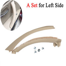 LEFT SIDE BEIGE INNER OUTER DOOR PANEL HANDLE PULL TRIM COVER FIT BMW E90 328i