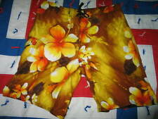 Quiksilver men's board shorts surfing floral Hawaiian shorts