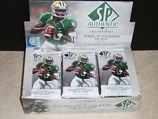 4 NEW PACKS 2012 SP AUTHENTIC FOOTBALL HOBBY PACKS, 5 CARDS PER PACK,
