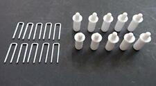 Plantation Shutter Repair Kit : 10 Tilt Rod Louvers Staples + Plus + 10 Spring