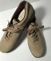 SAS Women's Walk Easy Brown Suede Leather Shoes Lace Up Oxfords Size 10.5