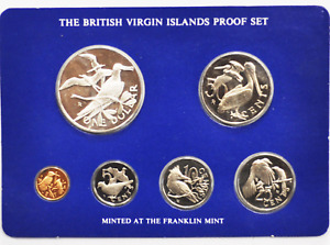 1977 British Virgin Islands Proof Set 6 Coin FM Silver Dollar Sealed