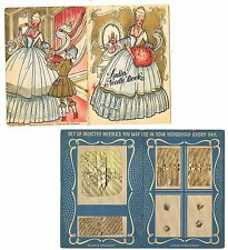 CARTONCINO PORTA AGHI VINTAGE 30/40 STAMPA in CROMOLITO-MADE GERMANY NEEDLE BOOK
