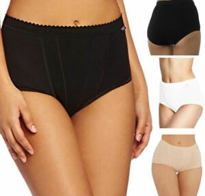 Sloggi Control Maxi 2P 94% Cotton 2 Pack Brief 10037875 High Waisted Knickers