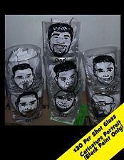 Custom Caricature Wedding Favor Groomsman Gift toasting Shot Glass Personalized