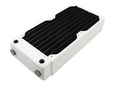 XSPC RX240 High Performance Dual 120mm Fan Water Cooling 240mm Radiator White