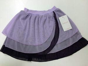 capezio limited edition kyla pull on purple dance skirt size intermediate 5-6