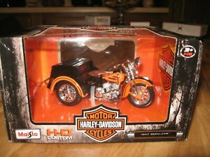 MAISTO Harley-Davidson 1947 Servi-Car Motorcycle Model Black and OTHERS--REDUCED