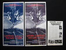 SOMETHING WICKED THIS WAY COMES Rare print error Australian daybill movie poster