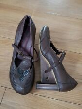 Harlot Hearted Brown Leather Women Shoes. Size Uk 6