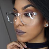"CRYSTAL SEE TROUGH Square Clear Frames  ""Kylie"" Clear  Women Eyeglasses GAFAS"