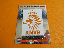 335 BADGE NEDERLAND KNVB PANINI FOOTBALL FIFA WORLD CUP 2010 COUPE DU MONDE