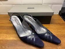 Van Dal womens navy suede/leather courts shoes Size 6 1/2