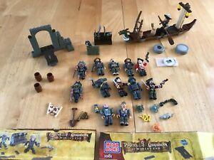 Pirates of The Caribbean bundle Mega Bloks Sets 1044,1039,1042,1081,1073 joblot