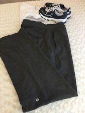 LULULEMON ATHLETICA Women Sport pants Gray S L Toll 4 Pockets LOgo Strait  Leg