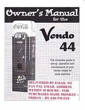 Vintage Vendo 44 Manual - Emailed via .PDF