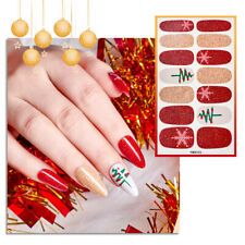 Xmas Nail Art Stickers Transfers Christmas Gift Decor Santa Claus Red Decals