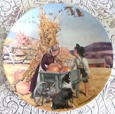 Knowles THANKSGIVING 2nd Issue The Americana Holiday Series Collector Plate Mint