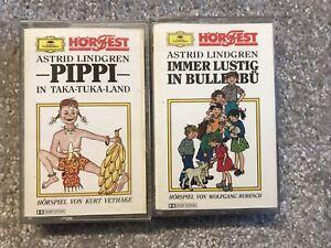 PIPPI LANGSTRUMPF in Taka-Tuka-Land/ Bullerbü ASTRID LINDGREN MC Kassette