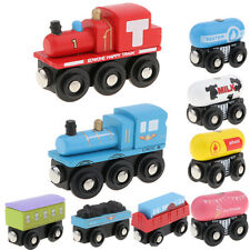 Magnetic Wooden Train Carriage City Railway Track Trains Toy Builing Replacement