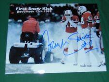 Patriots John Smith Autographed 8x10 Snow Blow