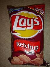 CANADIAN LAYS KETCHUP 6 LARGE BAGS OF POTATO CHIPS