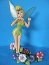 "RARE DISNEY TINKER BELL PETER PAN FAIRY GARDEN RESIN STATUE FIGURE 9 3/4"" TALL"