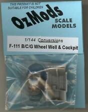 OzMods Models 1/144 F-111 WHEEL WELL & COCKPIT Resin Update Set