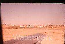 Amateur 35mm  Photo slide Amman Jordan  airport view from airplane 1959
