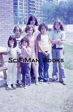 KODACHROME 35mm Slide Pretty Cute Boys Girls Hairdos Eating Popsicles 1976!!!